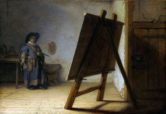 Rembrandt Harmensz van Rijn: The Artist in his Studio. Fine Art Print/Poster. Sizes: A4/A3/A2/A1 (00179)